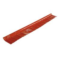 Scossalina polivalente rosso siena in polimglass 24 x 7  cm, spessore 1,8 mm