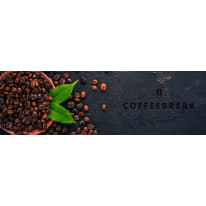 Quadro in vetro Coffeebeak 97x30