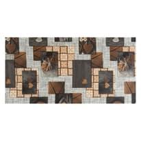 Tappetino cucina antiscivolo Full nodo marrone 55 x 280 cm