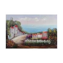 quadro dipinto a mano Vista sul mare 60x90