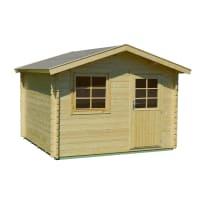 casetta in legno grezzo Vanamo 8,58 m², spessore 34 mm