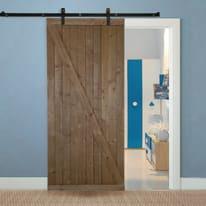 Porta da interno scorrevole Range noce 96 x H 220 cm reversibile