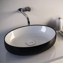 Lavabo da appoggio ovale Metamorfosi ø 42 x 14 cm