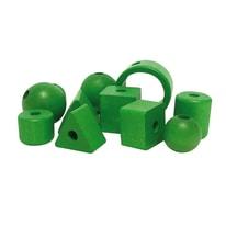 11 Perline in legno verde