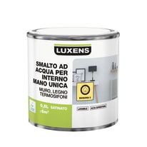 Smalto manounica Luxens all'acqua Giallo Banana 5 satinato 0.5 L