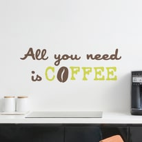Wallsticker Words Up M Coffee