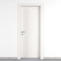 Porta da interno battente Wood bianco 90 x H 210 cm dx