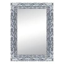 specchio da parete rettangolare Teresa argento 68 x 88 cm