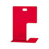 Fermalibri rosso L 14 x H 19,5 x P 15,5 cm