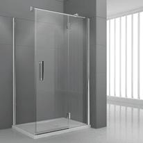 Porta doccia battente Modulo 76.5-79,5, H 195 cm cristallo 6 mm trasparente/cromo