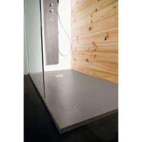 Piatto doccia resina Pizarra 160 x 80 cm cemento
