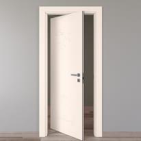 Porta da interno rototraslante Catbird crema 80 x H 210 cm sx