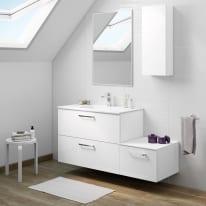 Mobile bagno Neo Line L 90 x P 48 x H 64 cm 2 cassetti bianco