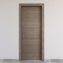 Porta da interno battente Stylish Grigio 70 x H 210 cm reversibile