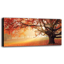 quadro su tela Red forest 60x120