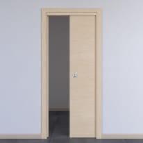 Porta da interno scorrevole Spring rovere chiaro 80 x H 210 cm reversibile