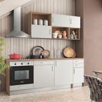 Cucina One bianco L 220 cm