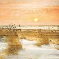 Quadro in legno Spiaggia 50x50