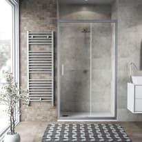 Porta doccia scorrevole Charm 137-140, H 200 cm cristallo 6 mm trasparente/silver