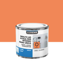 Smalto manounica Luxens all'acqua Arancio Chili 5 opaco 0.125 L