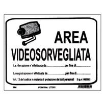 Targa adesiva Area videosorvegliata