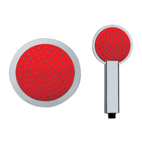 Soffione Colors Rosso Ø 20 cm ABS cromato lucido