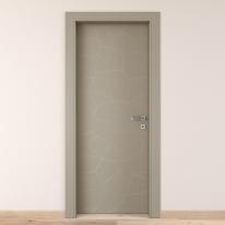 Porta da interno battente The Thing grigio 80 x H 210 cm sx