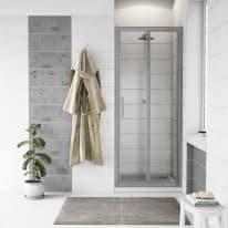 Porta doccia Quad 67.5-70,5, H 190 cm cristallo 6 mm trasparente/silver