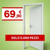 Porta da interno battente Clear 80 x H 210 cm reversibile