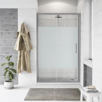 Porta doccia scorrevole Quad 167.5-170,5, H 190 cm cristallo 6 mm serigrafato/silver