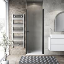 Porta doccia battente Neo 72-76, H 201,7 cm vetro temperato 6 mm nero