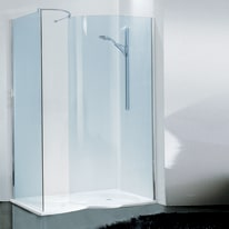 Doccia walk-in Free 20 140, H 193 cm cristallo 6 mm trasparente/cromo