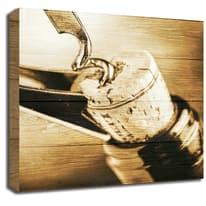 Quadro in legno Enoteca 30x30