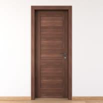 Porta per bed & breakfast battente Coventry noce 60 x H 210 cm sx