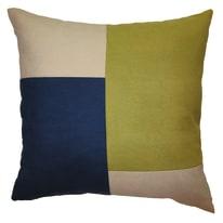 Cuscino grande Patchwork verde/blu 60 x 60 cm