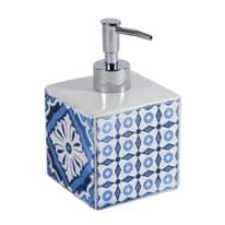 Dispenser sapone Mosaic bianco/blu