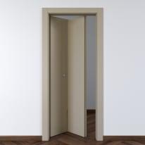 Porta da interno pieghevole Cinder grigio 80 x H 210 cm sx