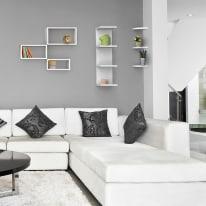 Mensola verticale a pettine Spaceo bianco L 25,5 x P 23,7, sp 2,2 cm