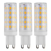 3 lampadine LED G9 =50W luce calda 360°
