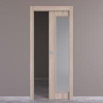 Porta da interno scorrevole Plank 80 x H 210 cm reversibile