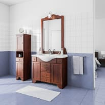 Mobile bagno Laura marrone L 99,5 cm