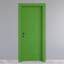 Porta da interno battente Blades green verde 70 x H 210 cm dx