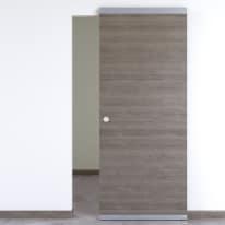 Porta da interno scorrevole Starwood Easy binario nascosto pietra 91 x H 221 cm reversibile