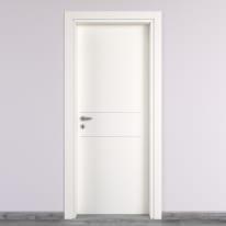 Porta da interno battente Two Lines bianco 90 x H 210 cm dx