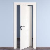 Porta da interno rototraslante Keyboard white bianco 80 x H 210 cm dx