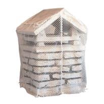 Rete Salva comignolo in tessuto bianco 31 x 34 x 3 cm 400 g