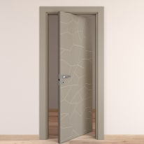 Porta da interno rototraslante The Thing grigio 80 x H 210 cm dx