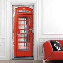 Sticker Door Cover Phone booth