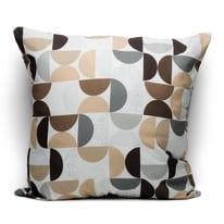 Fodera per cuscino Cerchi marrone 60 x 60 cm