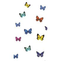Tenda doccia Papillons multicolor L 120 x H 200 cm
